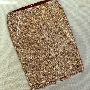 Torrid ✨ gold foil pencil skirt ✨